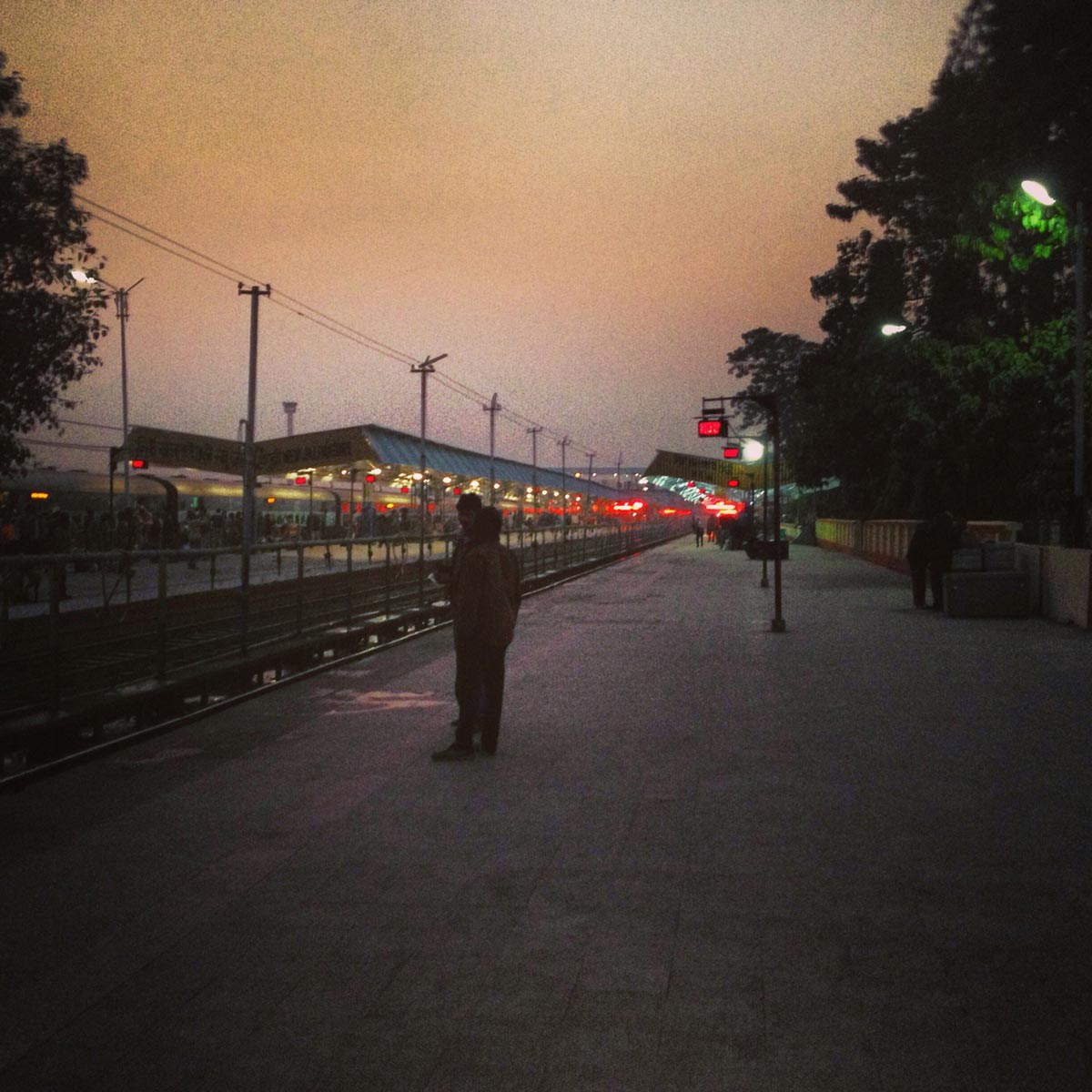 Sunset, New Jalpaiguri Railway Station, India