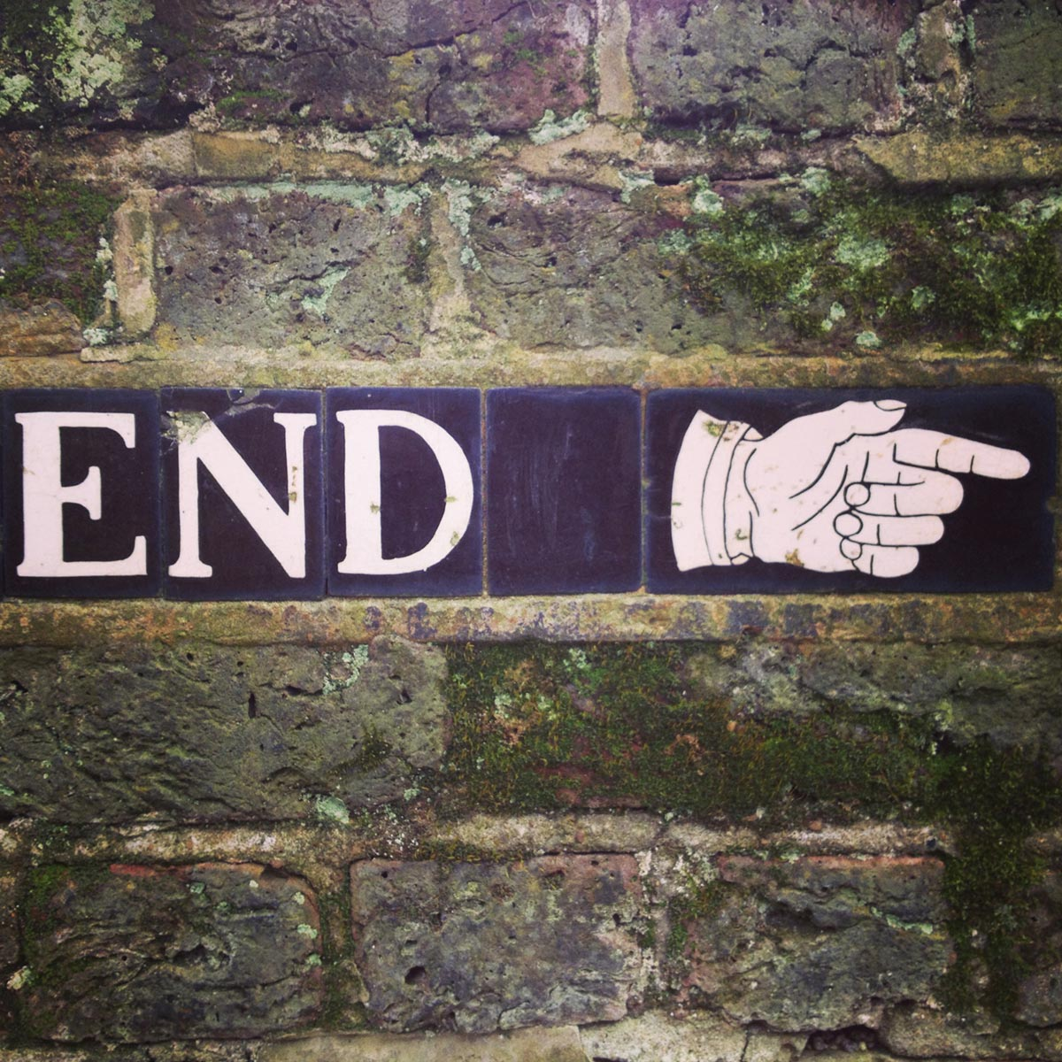 End - nice typography