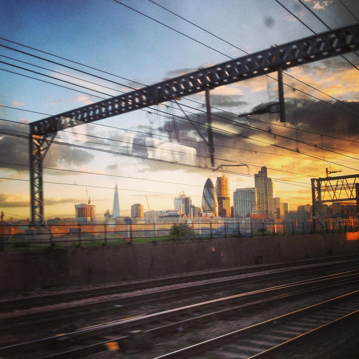 City of London sunset