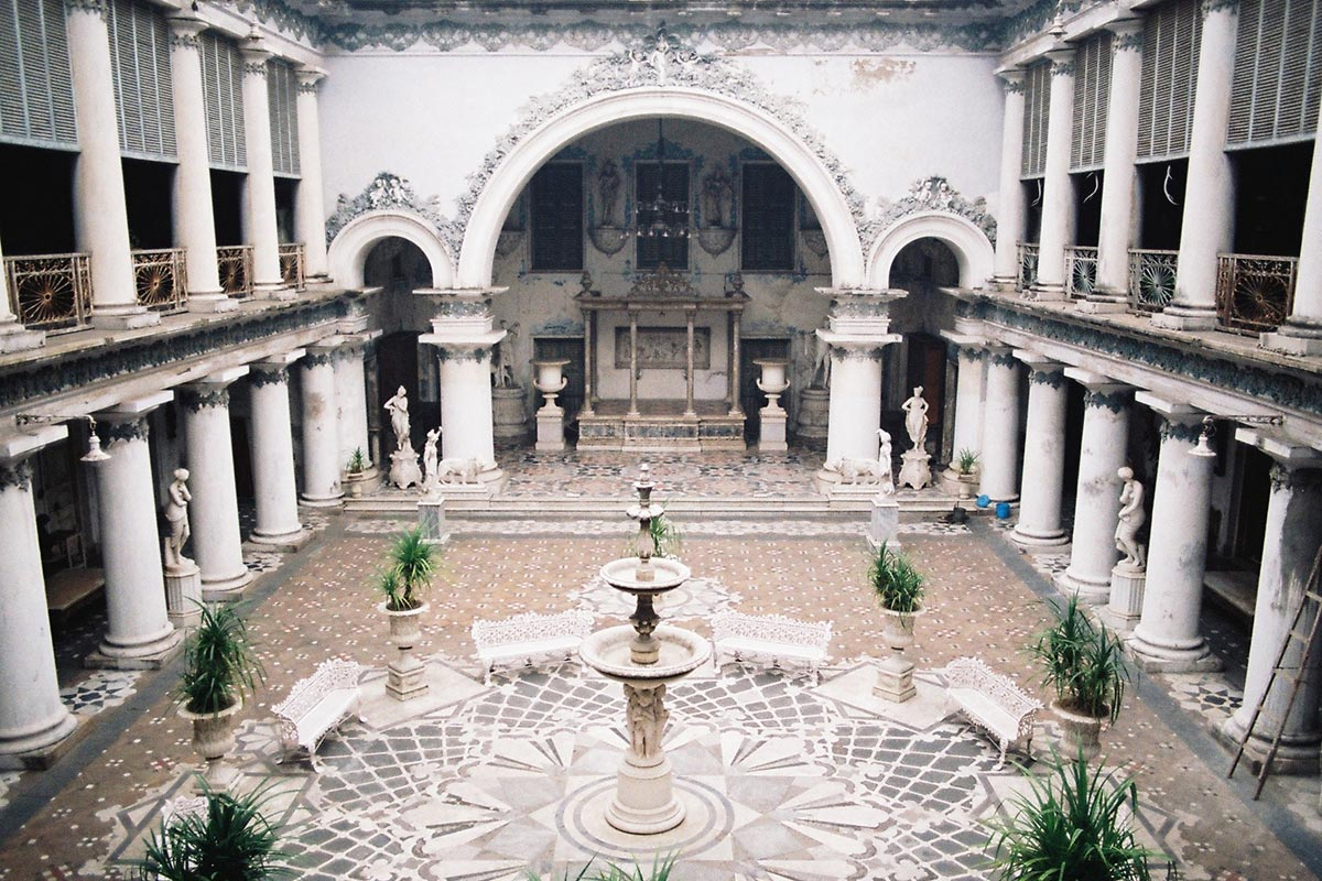 Courtyard of the Marble Palace, Kolkata