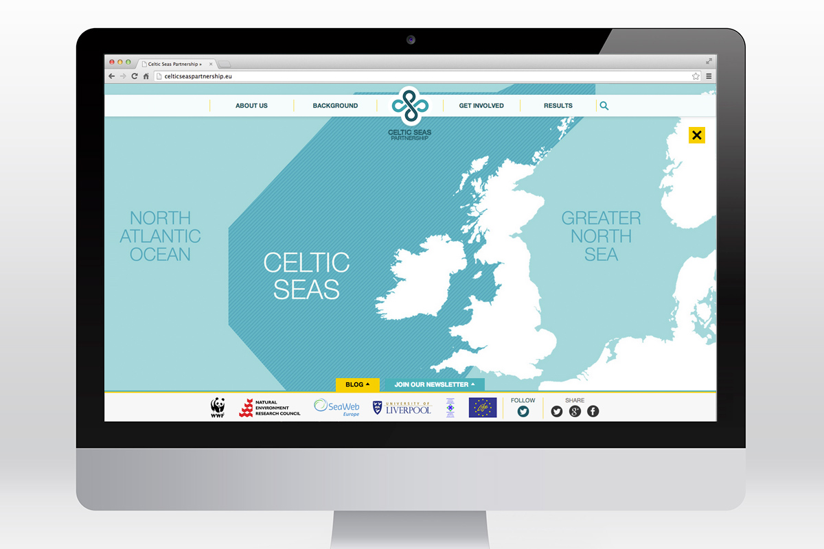 Celtic Seas Partnership website map