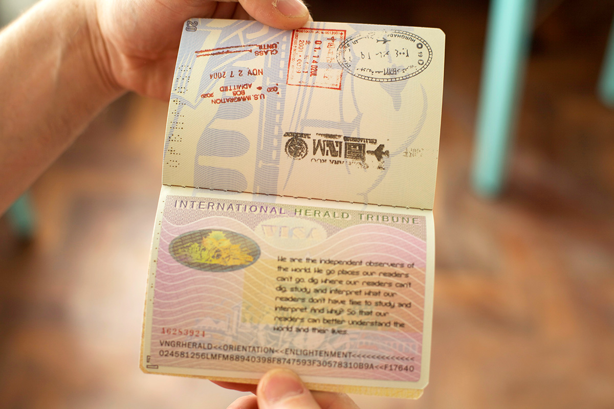 IHT Passport spread