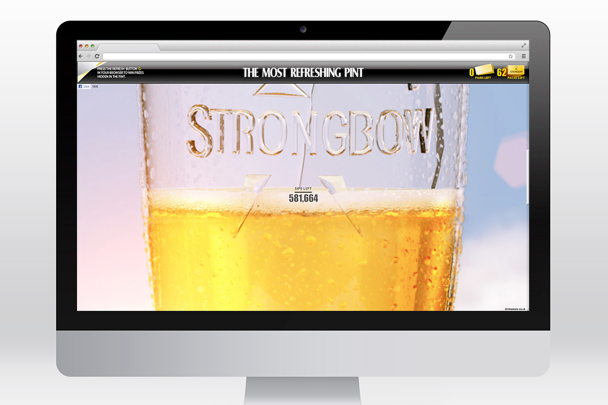 Strongbow - The Most Refreshing Pint microsite