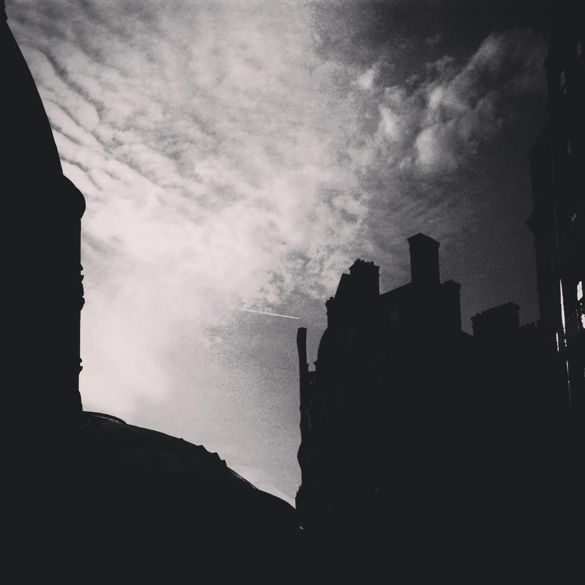 Royal Albert Hall silhouette, London