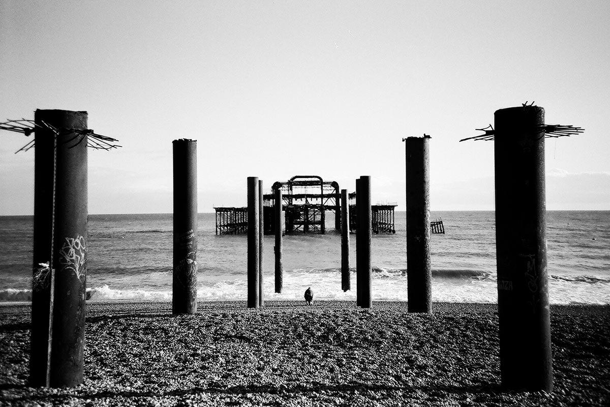 West Pier skeleton, Brighton