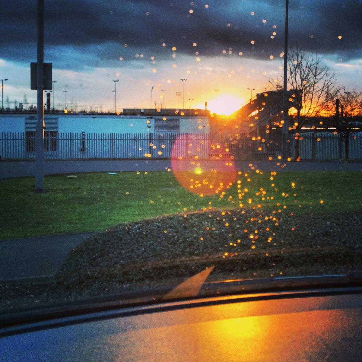 B&Q car park sunset, Leyton