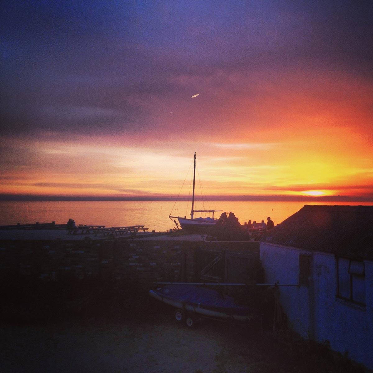 Whitstable sunset, Kent