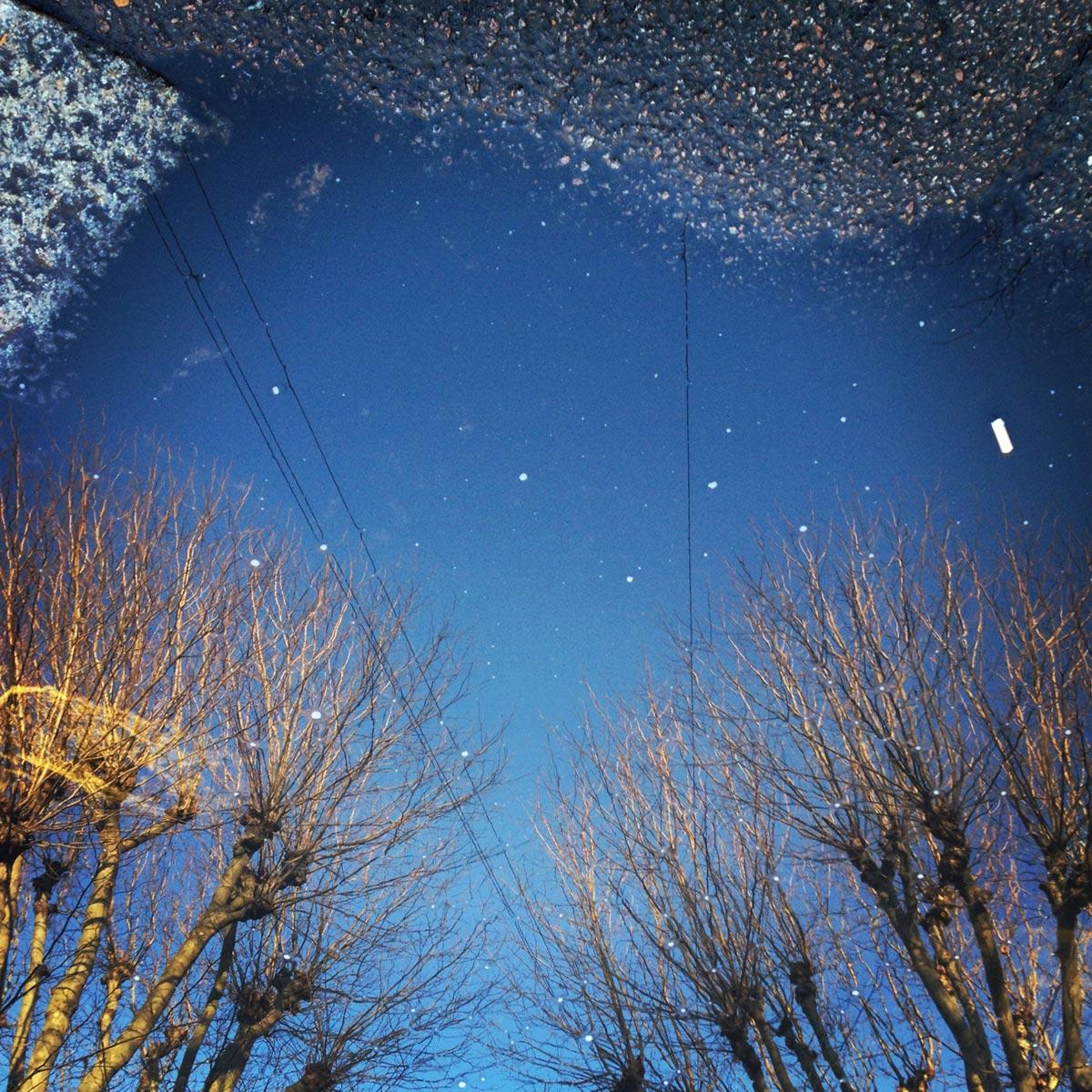 Walthamstow puddle reflection