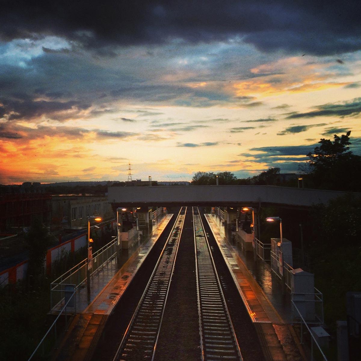 Blackhorse Road Overground Station sunset