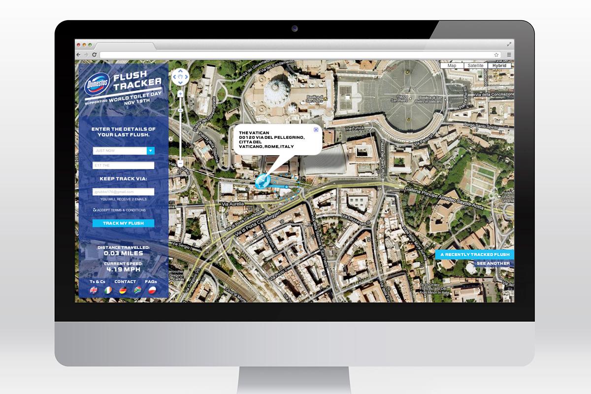 Domestos - Flush Tracker website