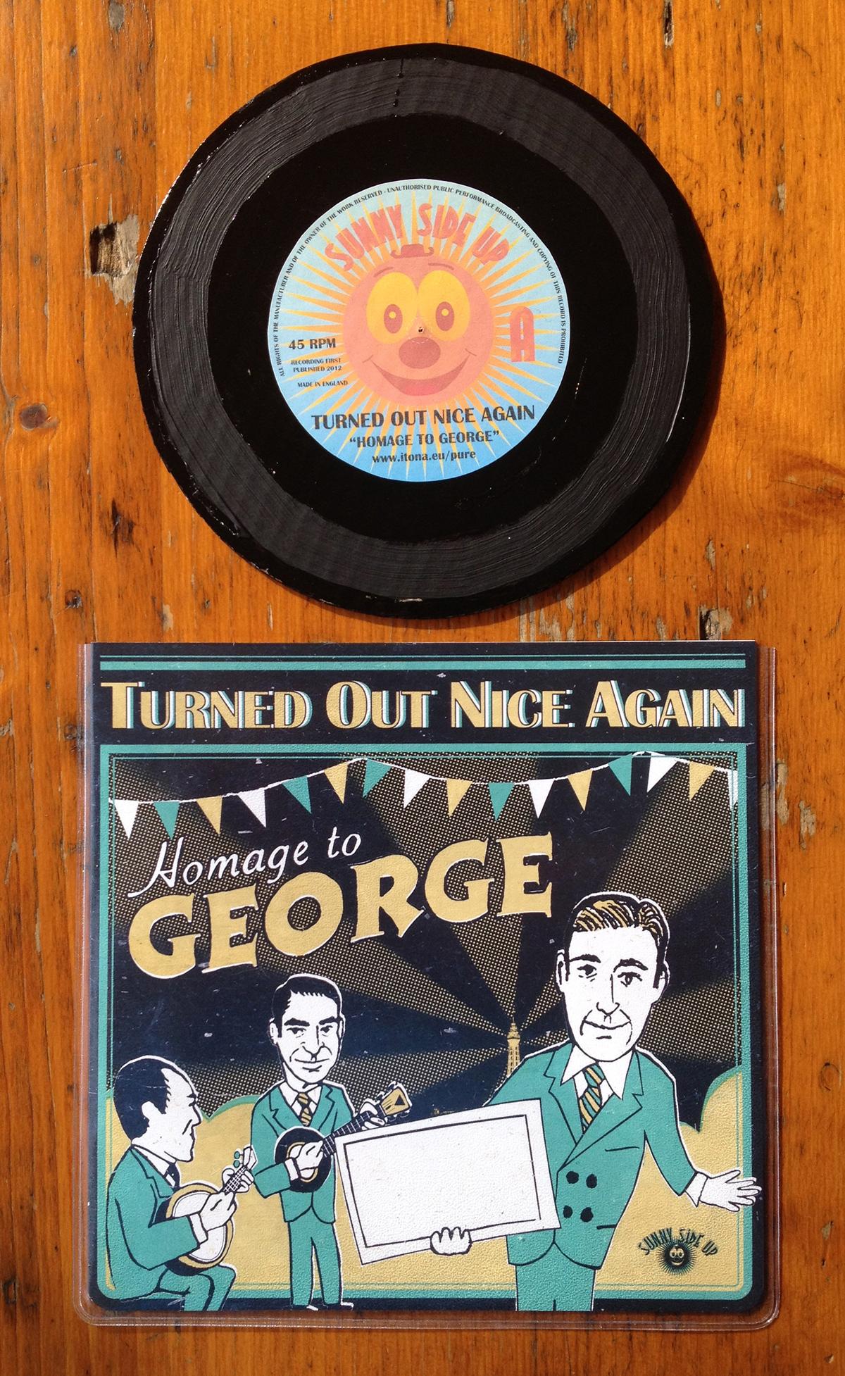 Homage To George - cardboard vinyl
