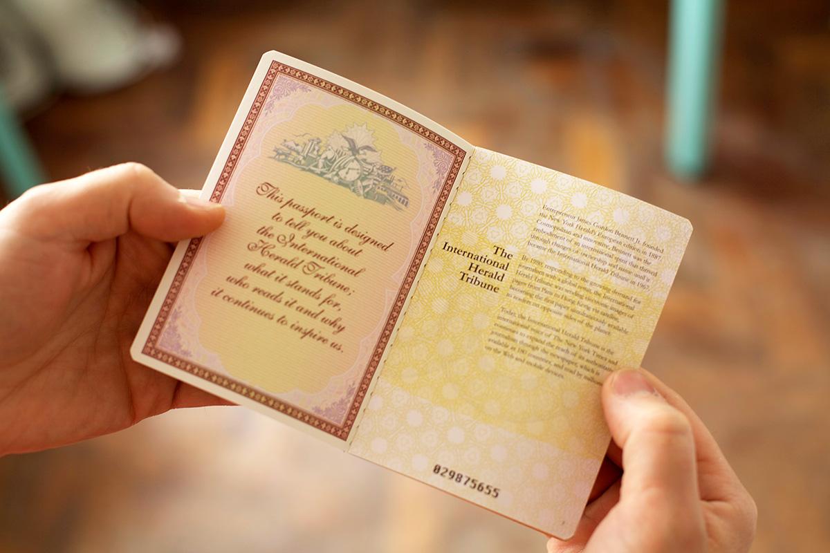 IHT Passport spread