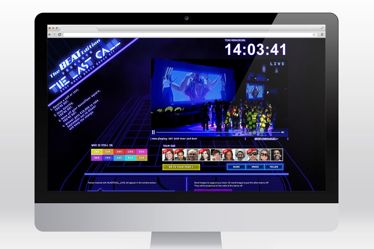 Samsung - The Last Call website