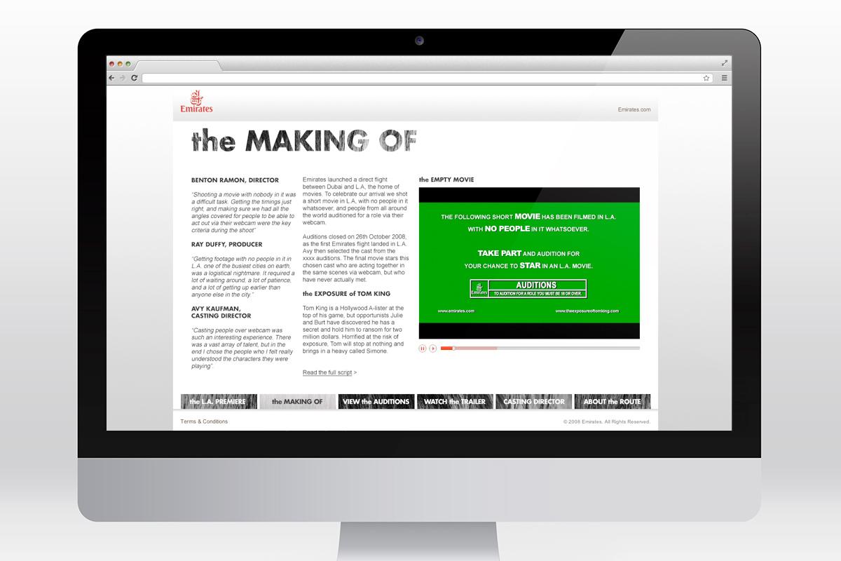 Emirates - L.A. Premiere website