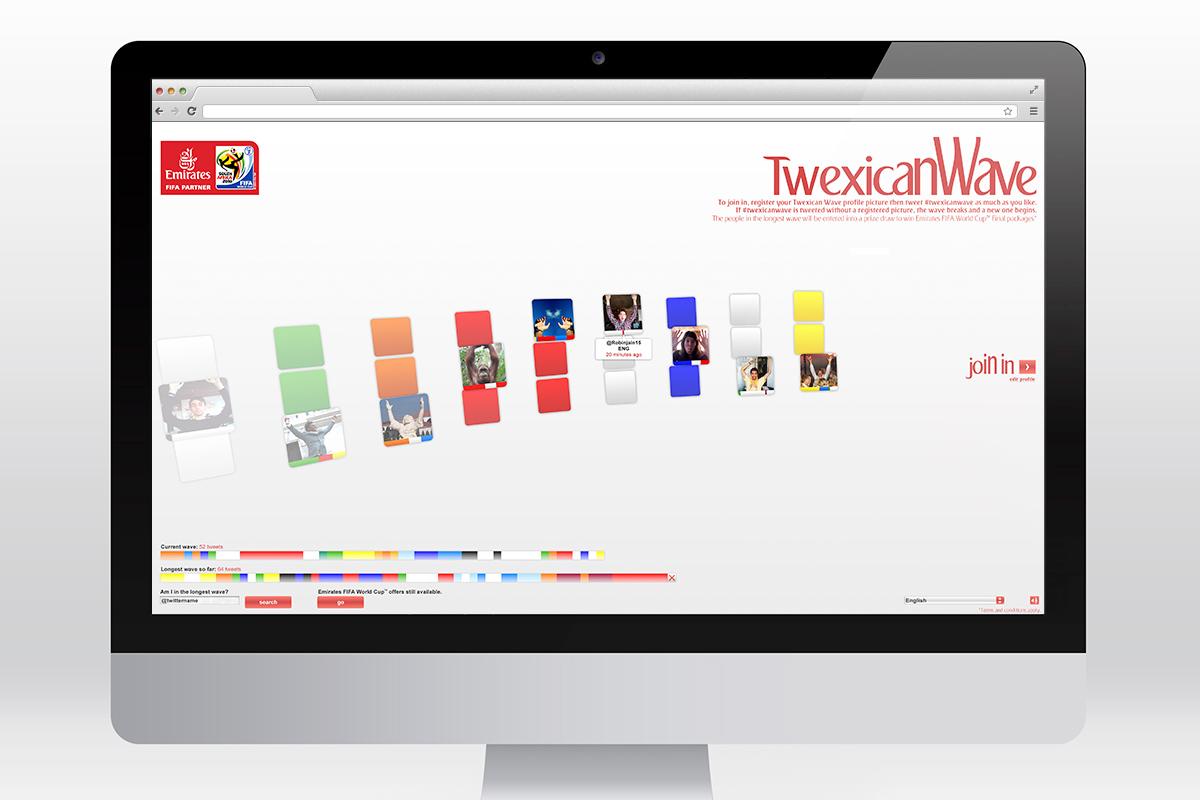 Emirates - Twexican Wave website