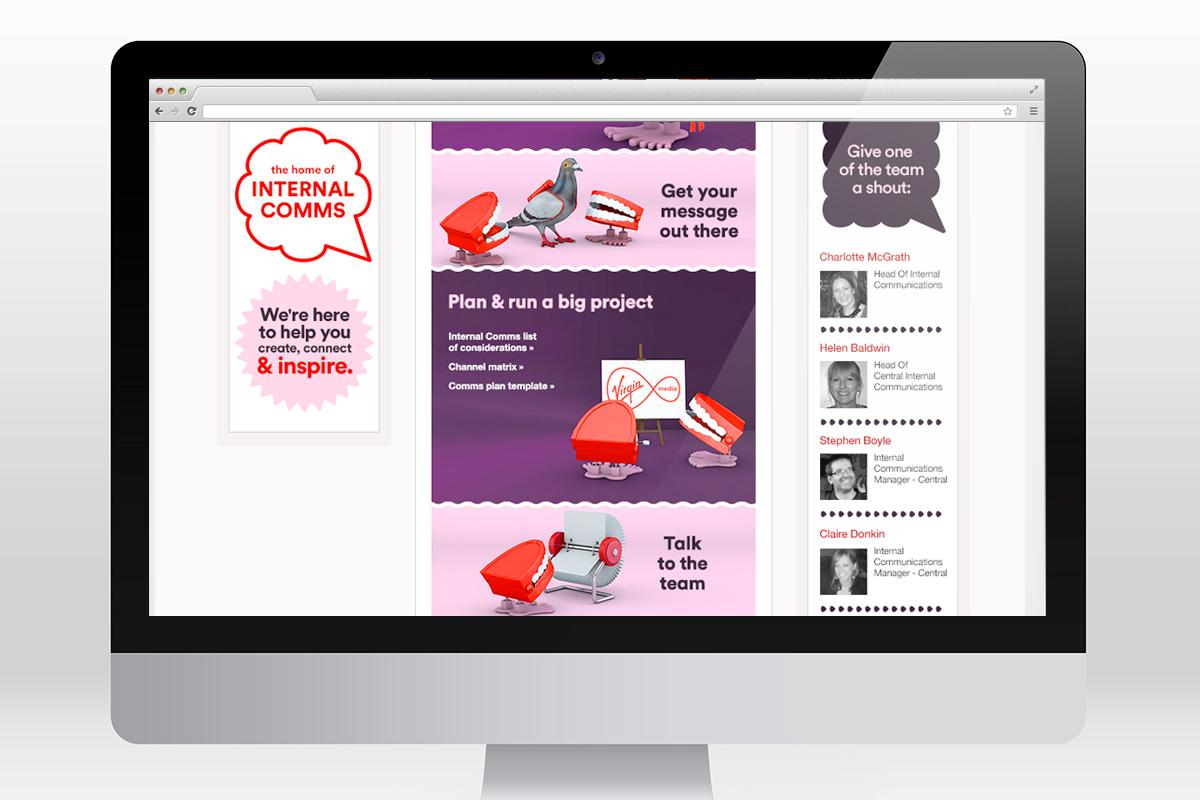 Virgin Media - Comms Central - intranet