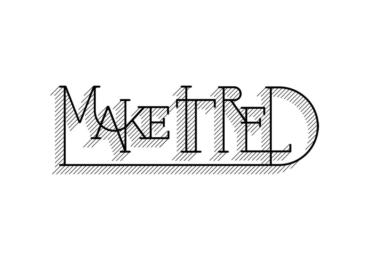 Make It Red logo stamp