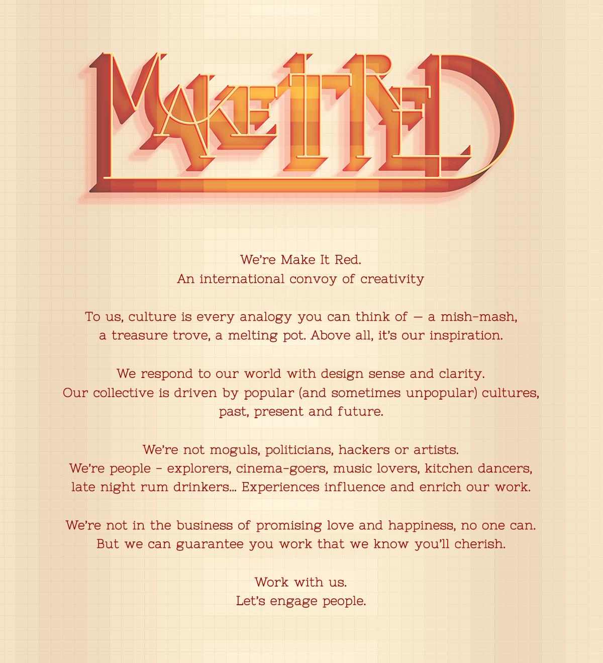 Make It Red manifesto